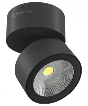 BENEITO Concord 3546 Faretto Tecnico da Soffitto o Parete Orientabile a LED 15W NERO