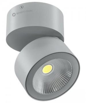 BENEITO Concord 3544 Faretto Tecnico da Soffitto o Parete Orientabile a LED 15W GRIGIO