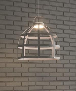 GIBAS Gioconda 189/25 Lampadario Rustico LED 2 Colori