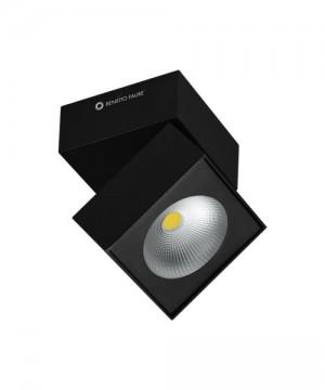 BENEITO Rubyc 3460 Faretto Tecnico da Soffitto o Parete Orientabile a LED 15W NERO