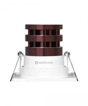 BENEITO Shot 250C061-C3 Faretto Tecnico da Incasso a LED 10W BIANCO Quadrato
