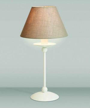 GIBAS Rocco 923/31 Lampada da Tavolo con Paralume 2 Colori