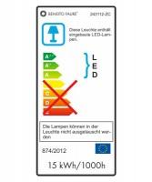 BENEITO Zibor 243112-ZC Lampada da Parete per Esterno a LED 15w BIANCO