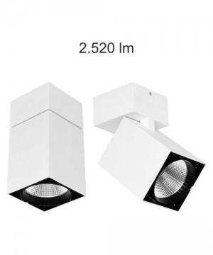 BENEITO Zenit 264470-Z3 Faretto Tecnico da Soffitto o Parete Orientabile a LED 30W BIANCO