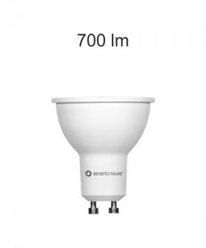 BENEITO GU10 8w 220V 60º Lampadina Dicroica a LED 2700K o 4000K