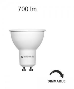 BENEITO GU10 8w 220V 60º Lampadina Dicroica a LED 2700K o 4000K DIMMERABILE