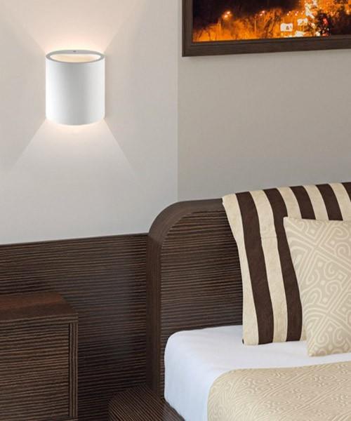 pan cassiopea par318 lampada moderna in gesso - la luceria - Applique Per Camera Da Letto