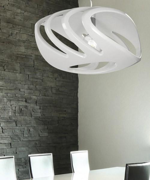 PAN Vis SOS 35015 Lampadario Moderno Diffuore Bianco