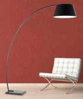 PAN Inge TER00120 Lampada da Terra ad Arco con Paralume in Tessuto