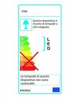 PAN Rod Lampada da Terra Moderna a LED 2 Colori