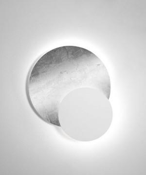 SFORZIN Black & White 1668.10 Lampada da parete Moderna a LED 28w Argento