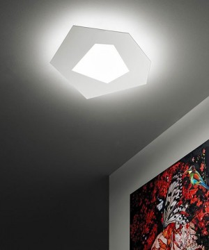 SFORZIN Pablo Media 1766.20 Lampada Moderna da Soffitto a LED Bianca