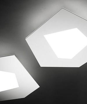 SFORZIN Pablo Grande 1766.21 Lampada Moderna da Soffitto a LED Bianca