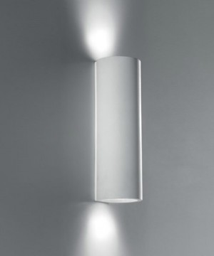 PAN Tube PAR10002 Lampada Parete Moderna in Gesso