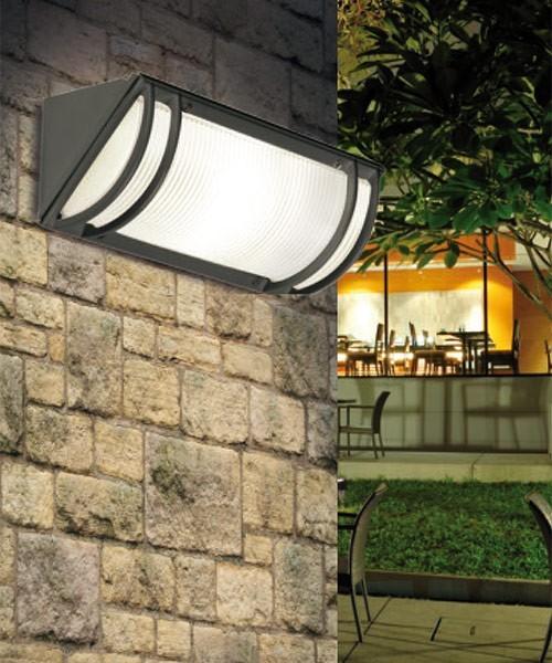 Pan angolo lampada parete soffitto da esterno 2 colori la luceria - Lampada da esterno a parete ...