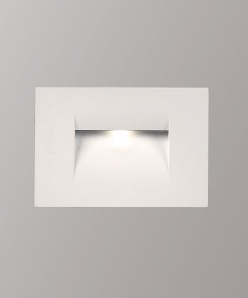 PAN Fast INC59000 Faretto da Incasso Segnapasso Bianco a LED 3w