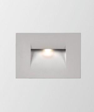 PAN Fast INC59001 Faretto da Incasso Segnapasso Grigio a LED 3w
