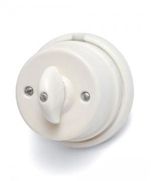 AMARCORDS AC416 Interruttore Deviatore Rotativo in Porcellana Bianco