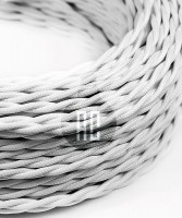 AMARCORDS AX754 Cavo Elettrico Tessuto Trecciato Cotone Bianco 3 x 0,75