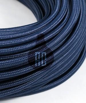 AMARCORDS AX637 Cavo Elettrico Tessuto Tondo Cotone Blu Abisso 3 x 0,75