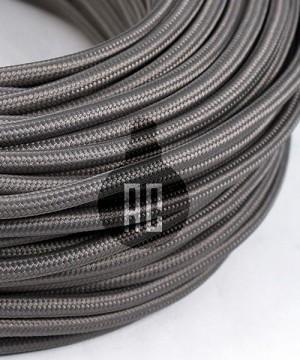 AMARCORDS AX636 Cavo Elettrico Tessuto Tondo Cotone Grigio Topo 3 x 0,75
