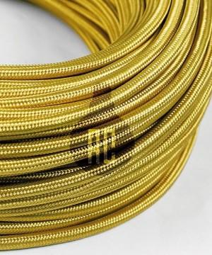 AMARCORDS AX630 Cavo Elettrico Tessuto Tondo Cotone Oro 3 x 0,75