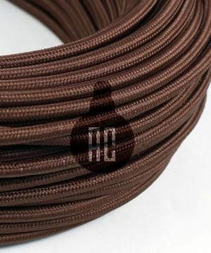 AMARCORDS AX609 Cavo Elettrico Tessuto Tondo Cotone Marrone 3 x 0,75