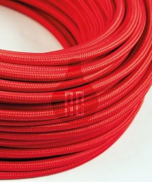 AMARCORDS AX605 Cavo Elettrico Tessuto Tondo Cotone Rosso 3 x 0,75