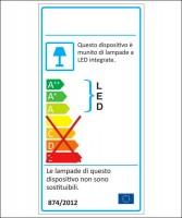 AMARCORDS LB701 Lampadina a LED 3000K 4w Vetro Chiaro Attacco E27