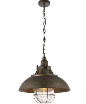 GLOBO Jaden 15011 Lampadario RusticoMetallo e Vetro Ø 41cm