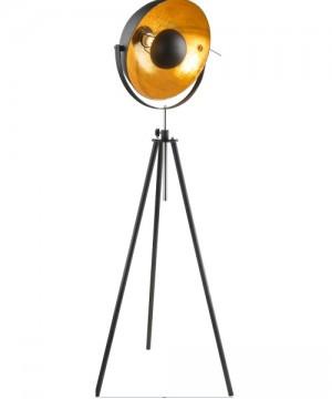 GLOBO Lenn 58305 Lampada da Terra Metallo Nero/Oro
