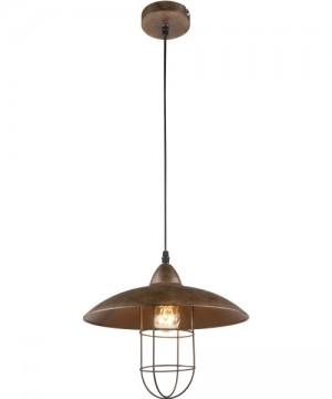 GLOBO Kova 15126 Lampadario Rustico Metallo Ø 30cm