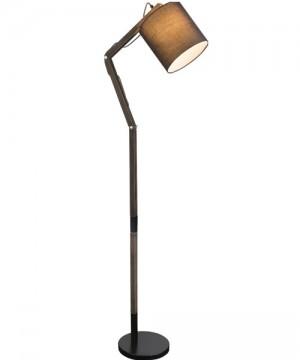 GLOBO Mattis 21512S Lampada da Terra Moderna Nero/Grigio