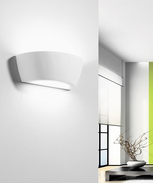 SFORZIN Mantinea T106 Lampada Moderna da Parete in Gesso