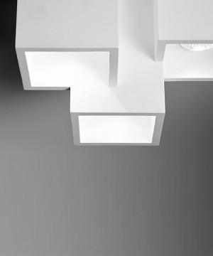 SFORZIN Heraea T193 Lampada Moderna a Soffitto in Gesso a 3 luci