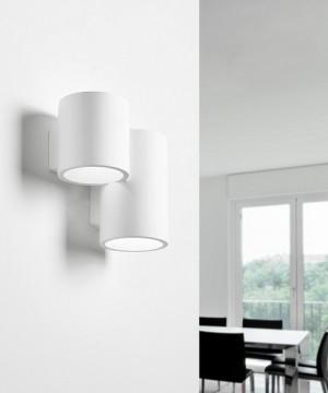 SFORZIN Arta T253 Lampada Moderna a Parete in Gesso a 2 luci