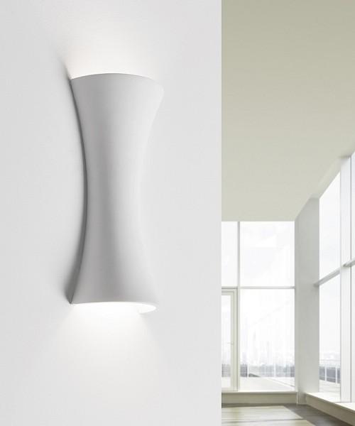 SFORZIN Pale T227 Lampada Moderna da Parete in Gesso a LED