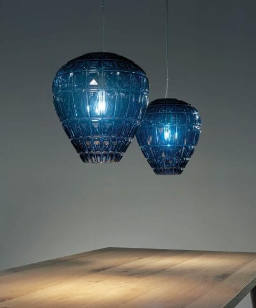 Lampadario Vetro Soffiato.Sforzin Reflex 1755 30 Lampadario Vetro Soffiato 3 Colori
