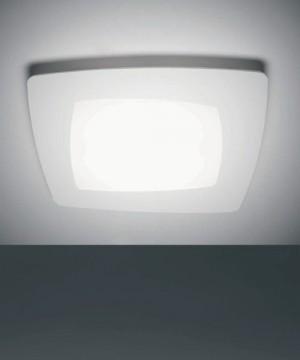 SFORZIN Debra Quadra Media 1742.21 Lampada Parete/Soffitto a LED Bianca