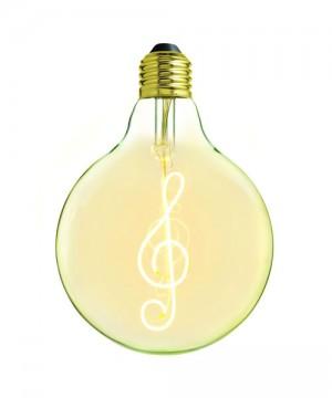 AMARCORDS DL129 Lampadina Decorativa a LED Filamento Chiave di Violino