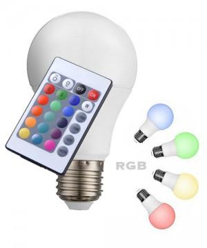 GLOBO 10675 Lampadina a LED Dimmerabile RGB 7w Attacco E27