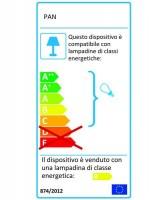 PAN Connection EST01004 Lampada per Esterno da Parete 20w FTB Bianco