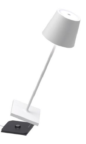 ZAFFERANO POLDINA PRO Lampada Ricaricabile LED Dimmer 10 Colori