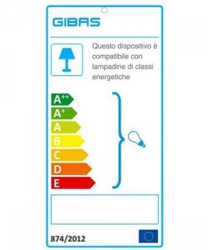 GIBAS Boing 935/1PLP C45 Lampada da Soffitto Moderna D30cm Vetro Satinato