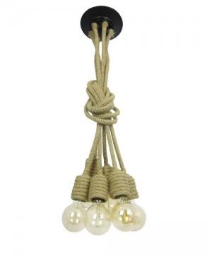 AMARCORDS Ropes CA321Lampadario Vintage Effetto Fune Navale 6 Luci