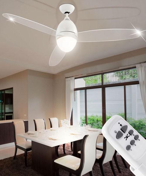GLOBO Premier 0300 Bianco Ventilatore a Soffitto con Luce a LED - La Luceria