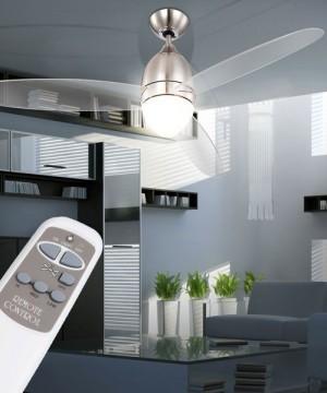 GLOBO Premier 0302 Nichel Ventilatore a Soffitto con Luce a LED