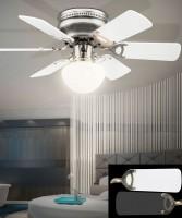 GLOBO Ugo 0307W Ventilatore a Soffitto con Luce 5 Pale 6 colori