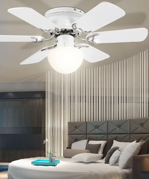 Globo formentera 03070 ventilatore a soffitto con luce 6 for Ventilatore a pale