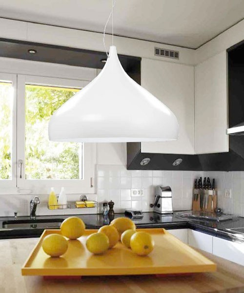 PAN Wok SOS30001 Lampadario Moderno Bianco 1 Luce LED
